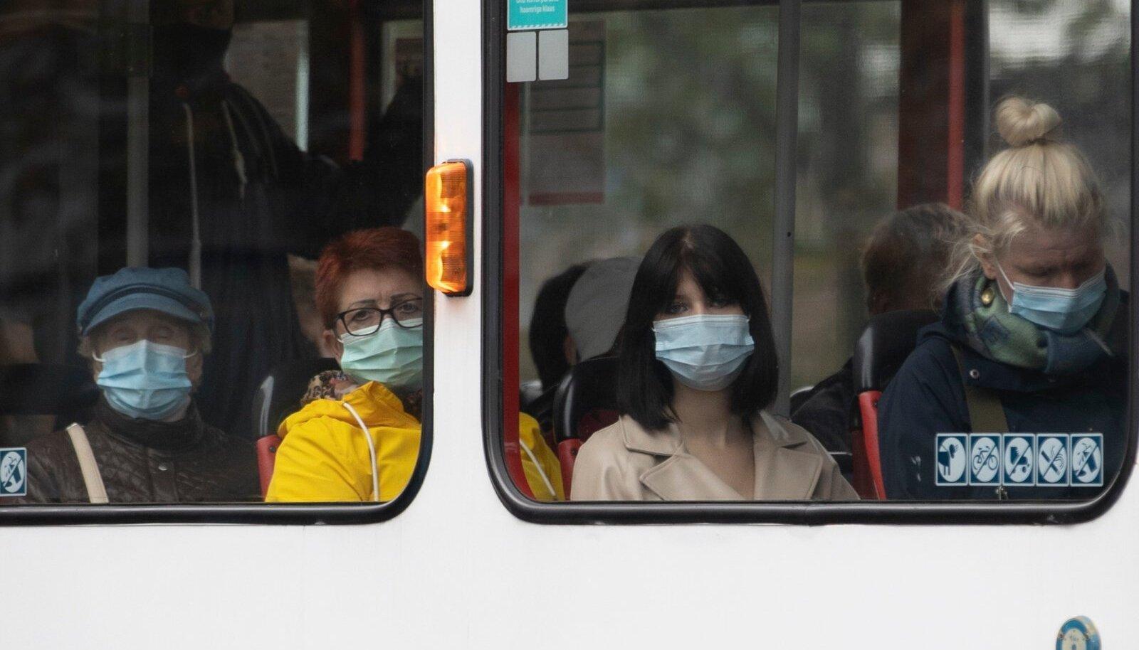 Maskid tänavapildis 26.08.2021