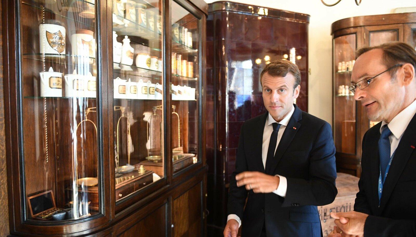 Raeapteeki külastas 2017. aasta septembris Eestis käies ka prantsuse president Emmanuel Macron.