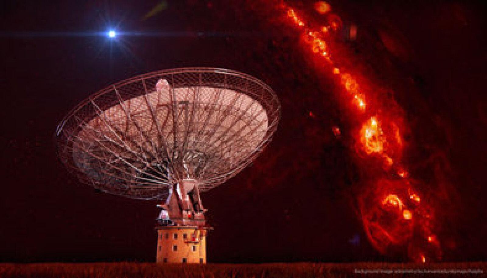 CSIRO's Parkesi raadioteleskoop. Swinburne Astronomy Productions