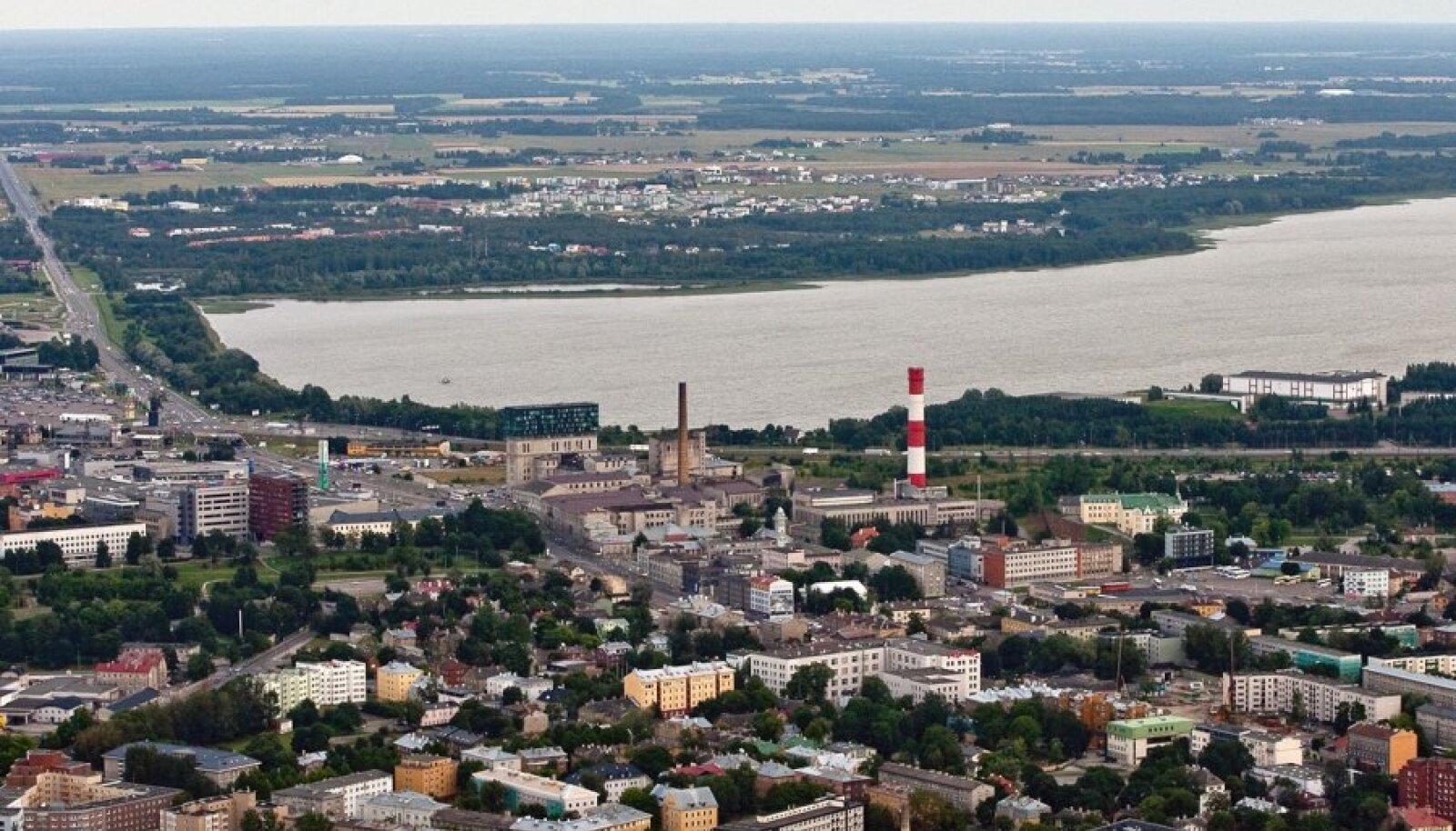 Ülemiste järv ja tänapäevane Tallinn.
