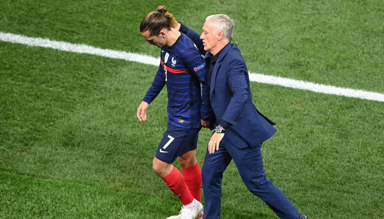 Antoine Griezmann ja Didier Deschamps