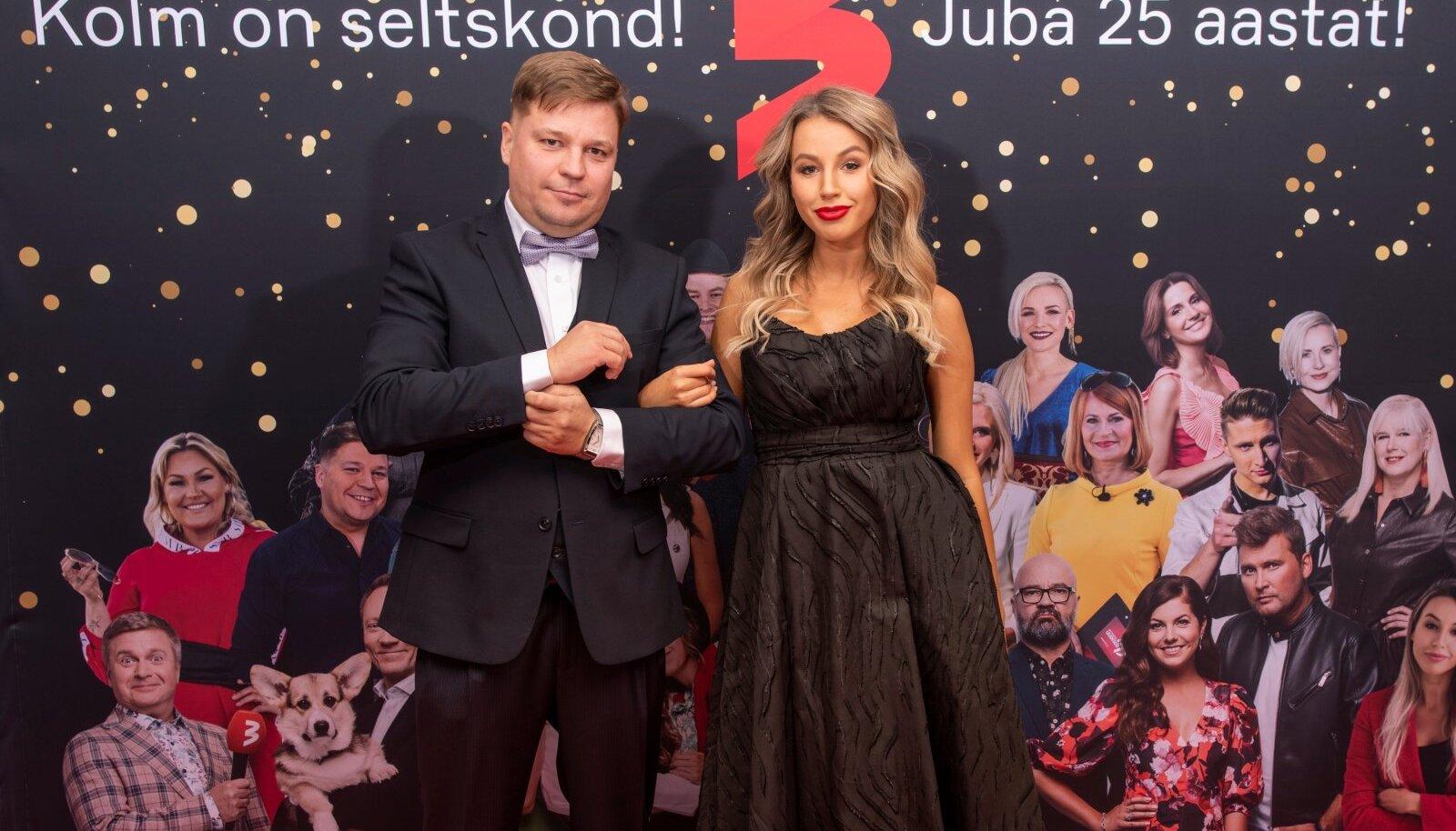 """ÜRITUSEL KOONDNIMEGA """"Missioon TV3 & 007"""" esitlesid TV3 sügisprogrammi teletähed Erkki Sarapuu ja Tuuli-Ann Freienthal."""