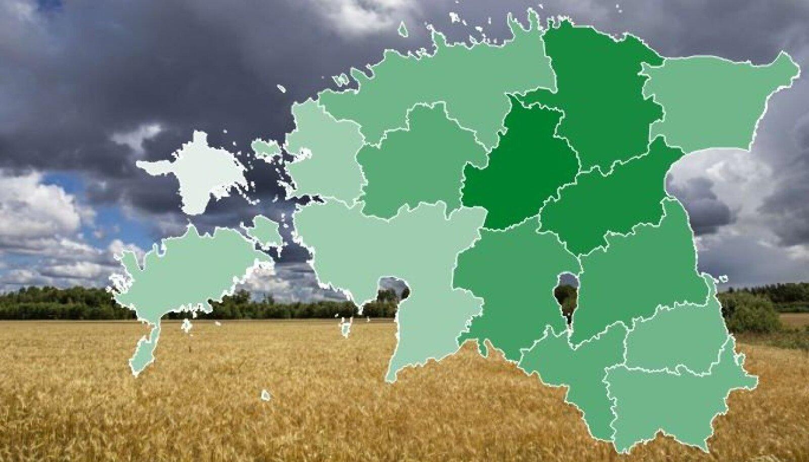 Vaata, kus asuvad Eesti viljakamad mullad!