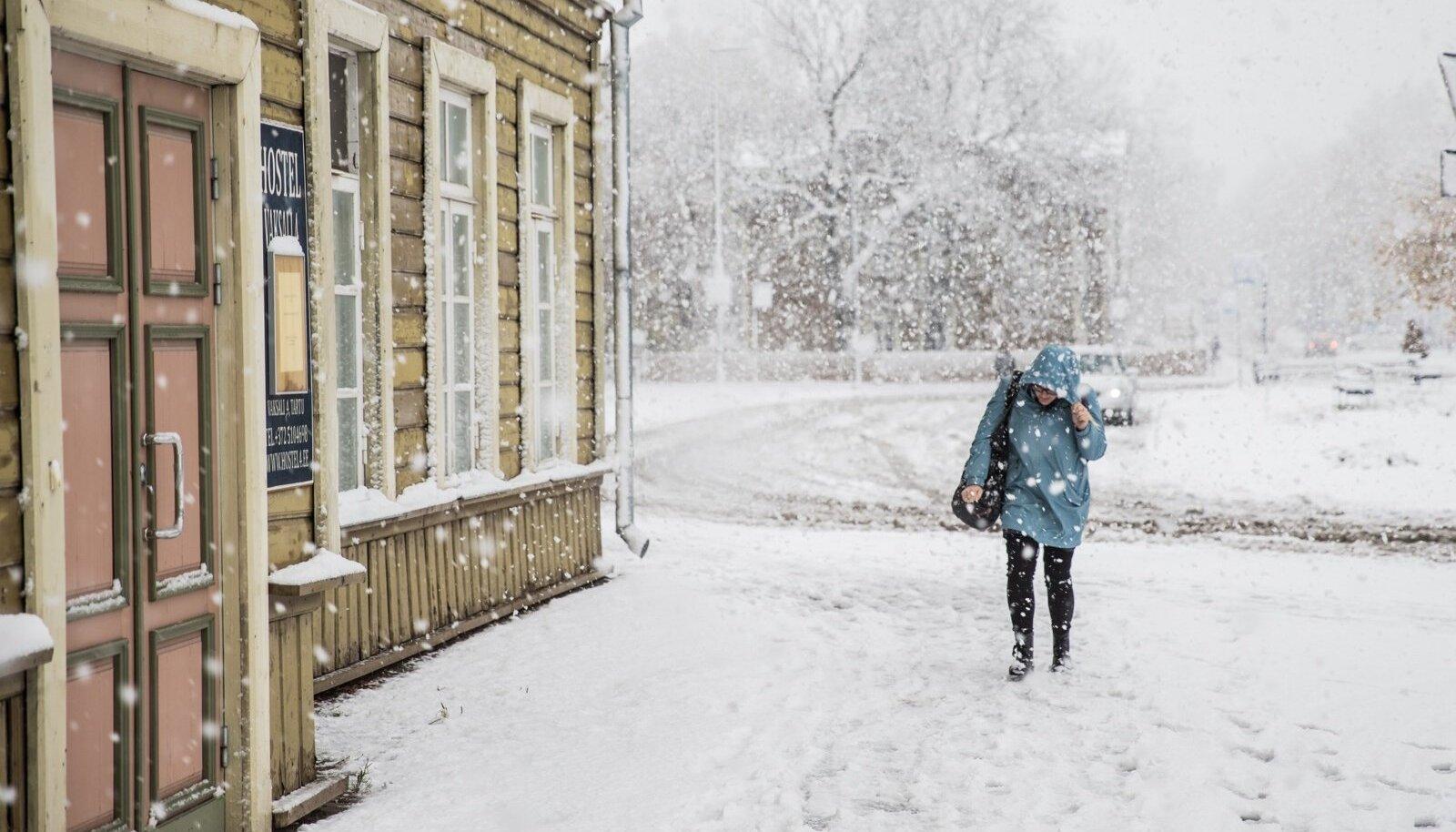 Esimene lumi 2018 Tartumaal