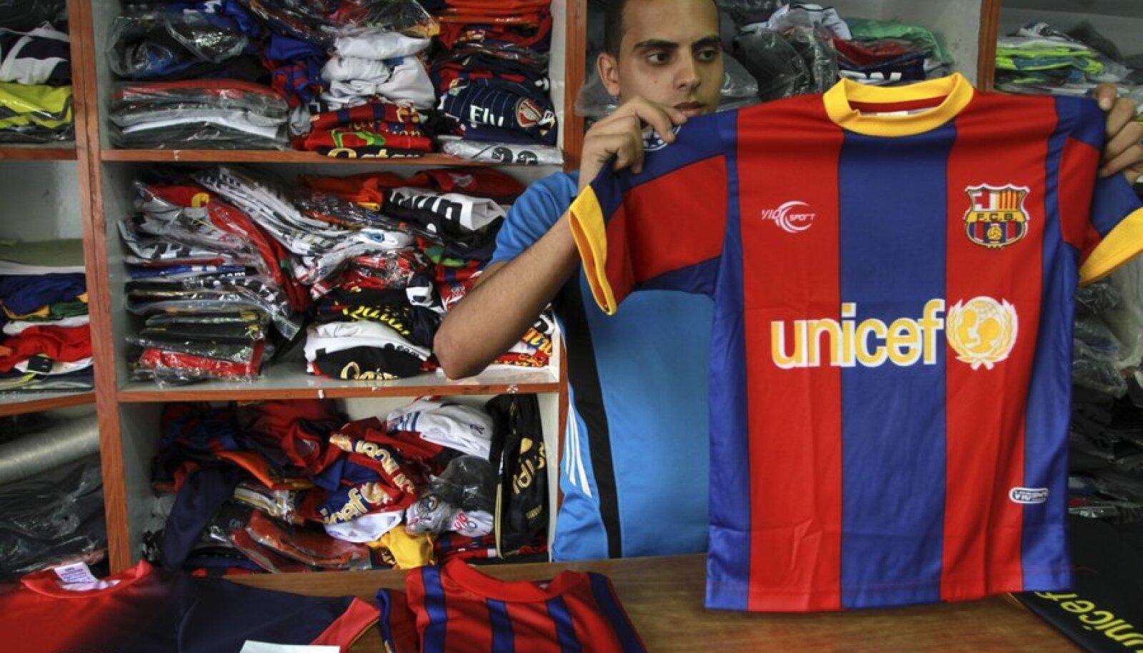 Gaza tsooni müüja Barcelona särgiga