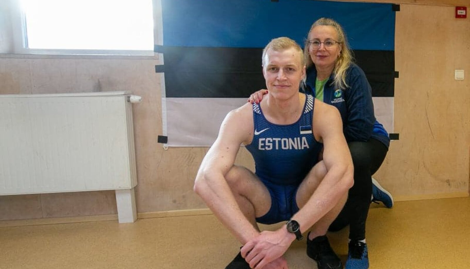 Leo Muiste ja treener Ruth Vaar.