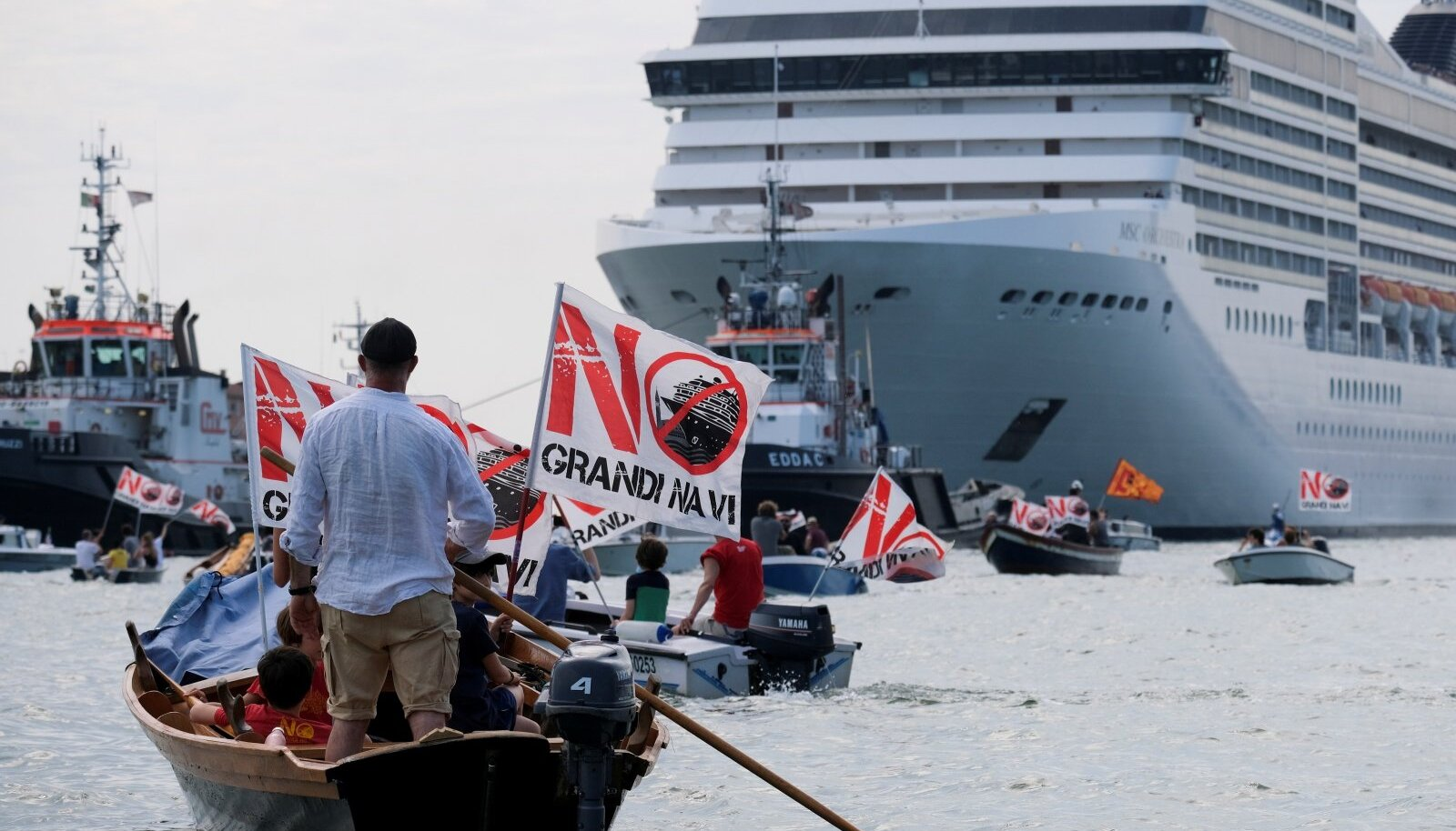 Nädalavahetusel toimusid Veneetsia laguunis meeleavaldused nii ristluslaevade poolt kui ka vastu.