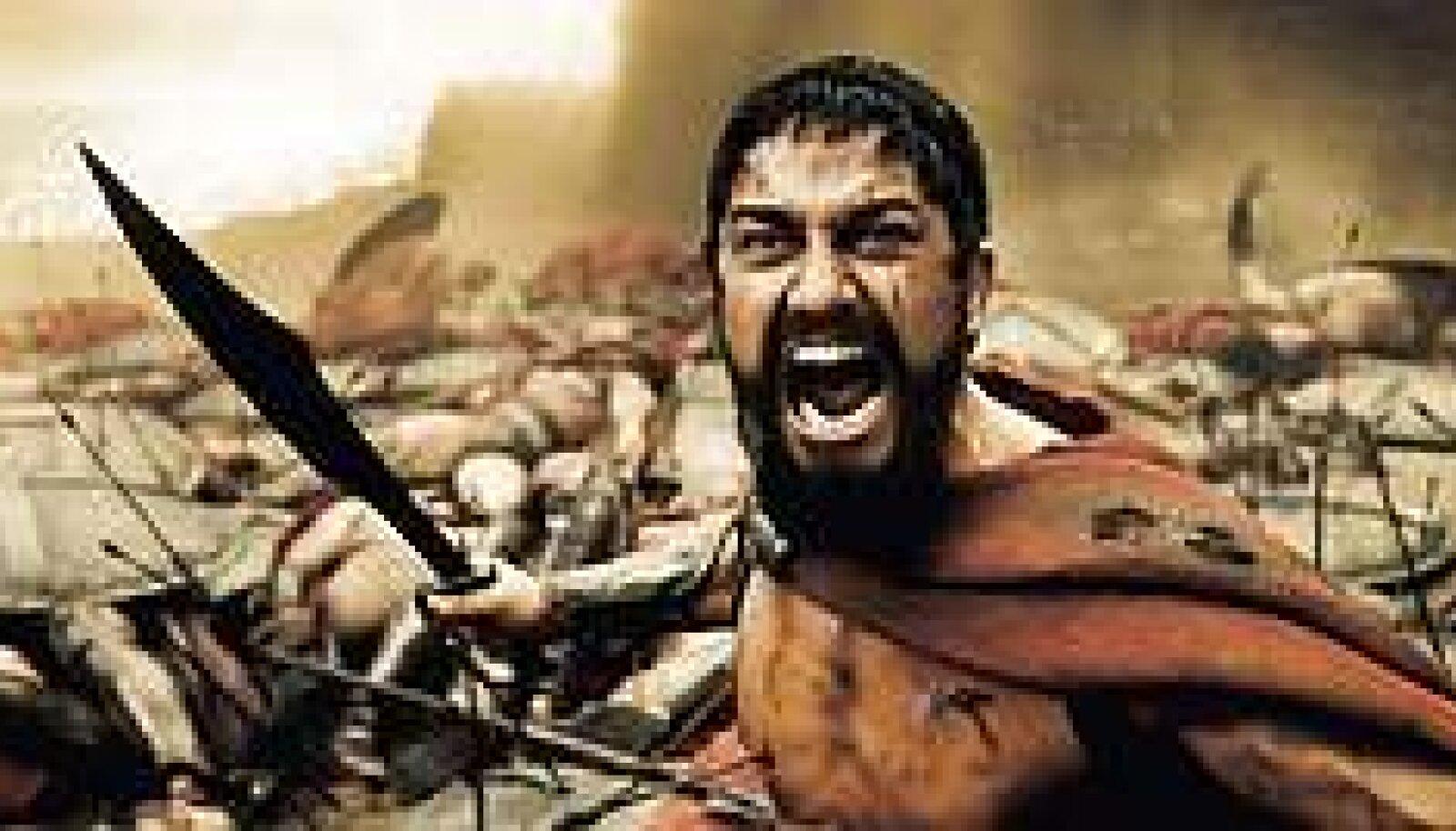 LAPSEPÕLVEST  KARTMATUKS TREENITUD: Sparta kuningas Leonidas (Gerard Butler).