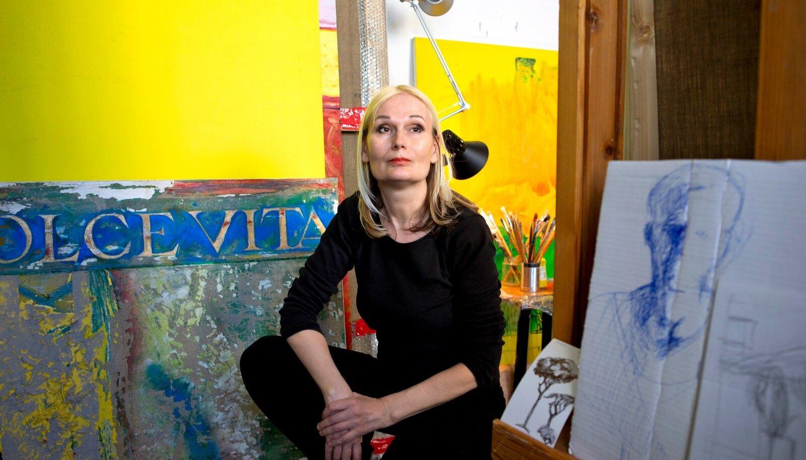 """Tammetalu ja õlimaal """"La dolce vita"""", maalitud 1993–2021. See 27 aasta vältel valminud teos leiab peagi koha ühe Eesti kunstikoguja kollektsioonis."""