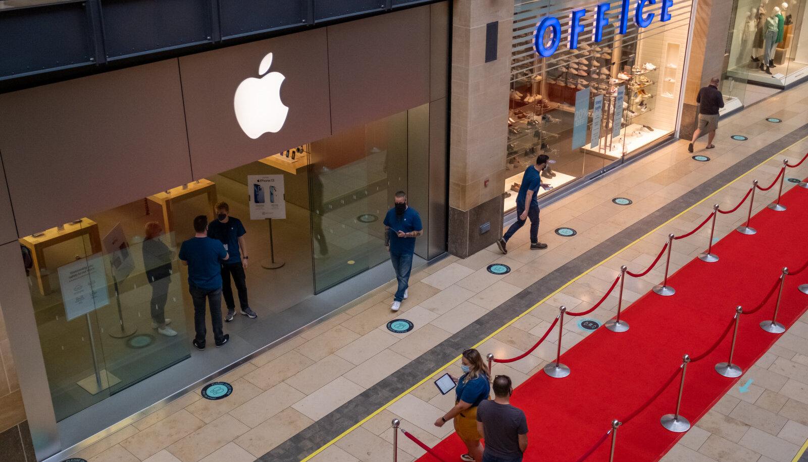 Järjekorrad sellel aastal pärast uue iPhone lansseerimist olid võrreldes varasemaga palju lühemad. Foto on tehtud 24. septembril Cambridge'is