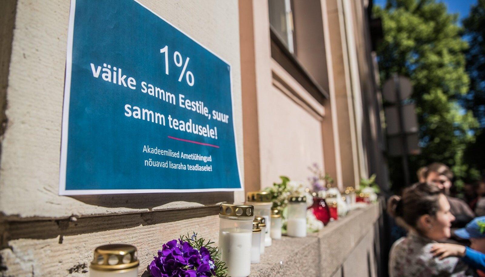 Teadmistepõhise Eesti matused Tartus HTM ees
