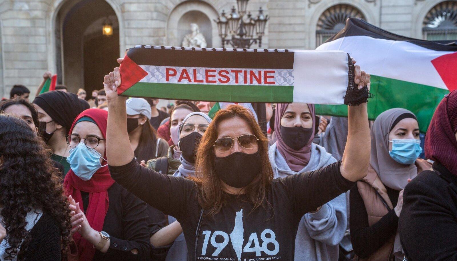 Iisraeli-vastane meeleavaldus Barcelonas