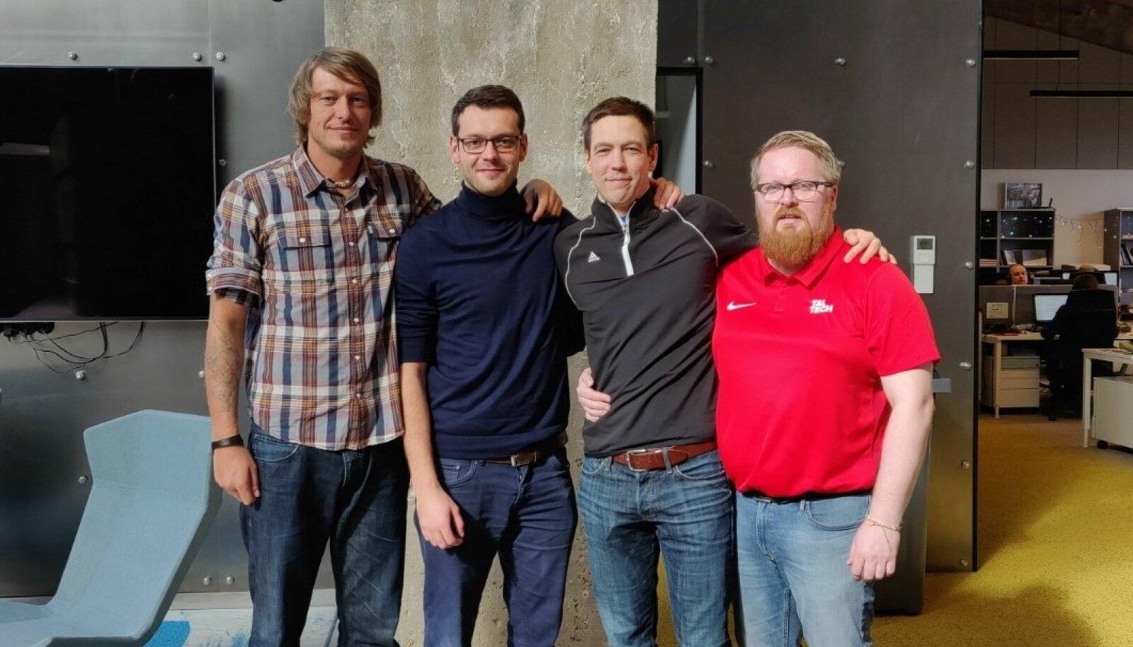 Rivo Vesik, Karl Rinaldo, Oliver Lüütsepp ja Uku Rummi.