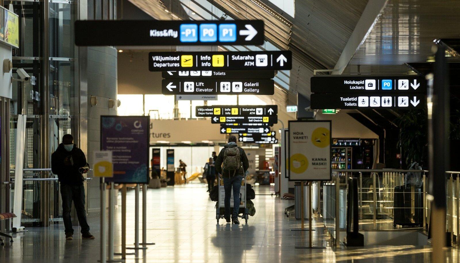 Lennujaama saabujad, pilt on illustratiivne.