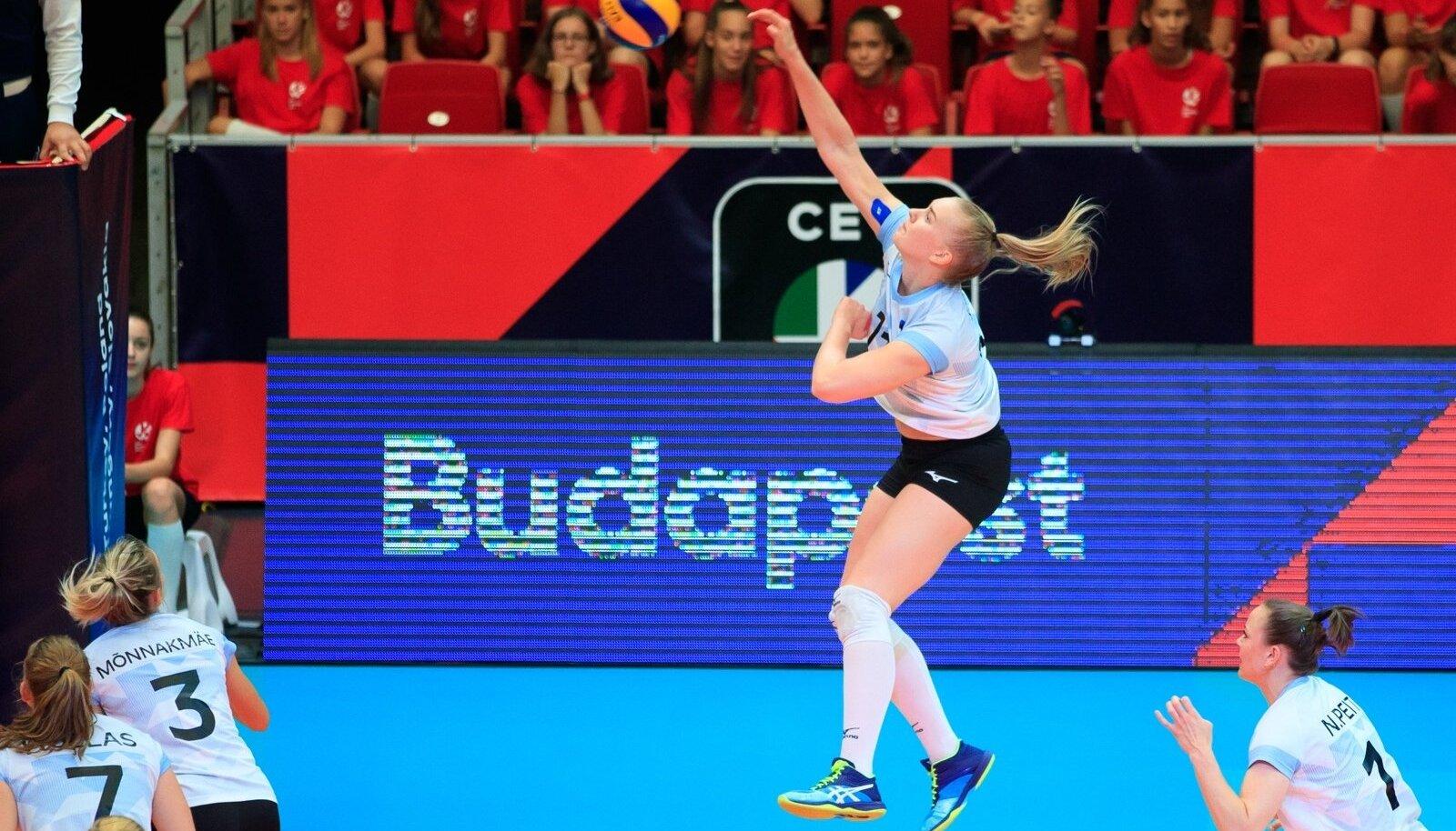 Võrkpalli EM-finaalturniir Budapestis Eesti vs Aserbaidžaan 28.08.2019