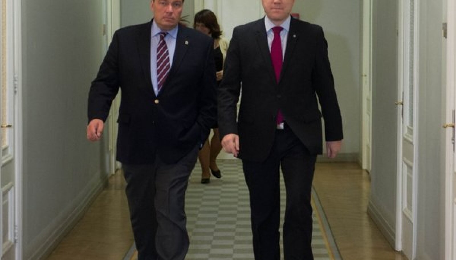 Mihhail Margelov (vasakul) ja Marko Mihkelson