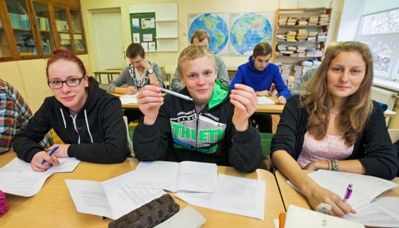 Mustvee gümnaasiumi õpilased