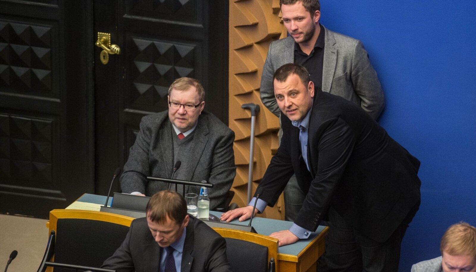 Mart Laar, Sven Sester ja Margus Tsahkna