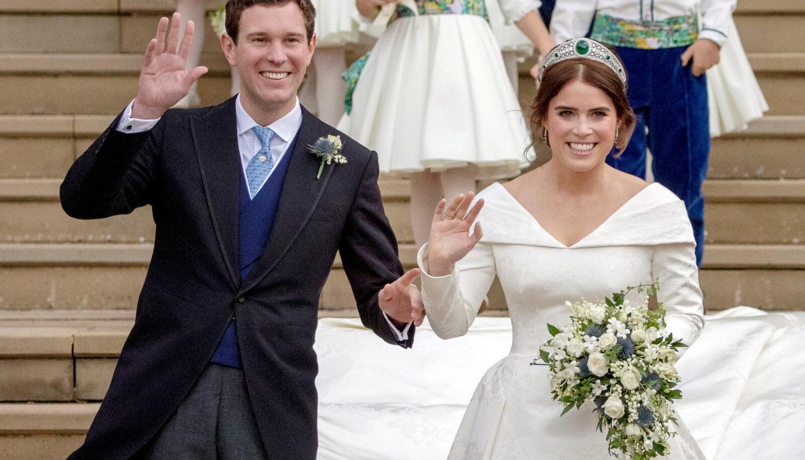 Eugenie ja Jack oma pulmapäeval 2018. aasta sügisel.