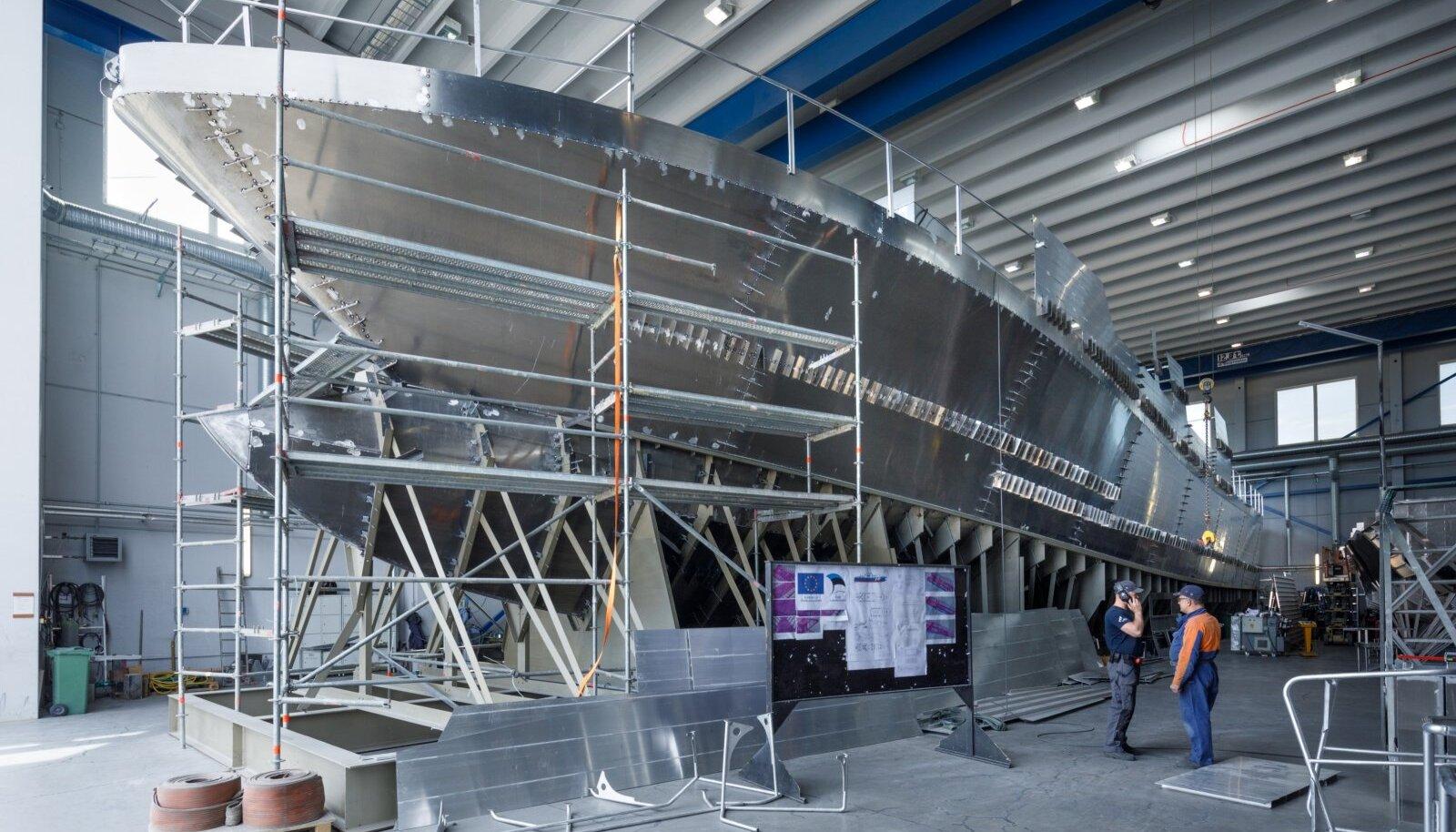 Nasva laevaehitustsehhis valmis ka 45-meetrine alus PPA jaoks.
