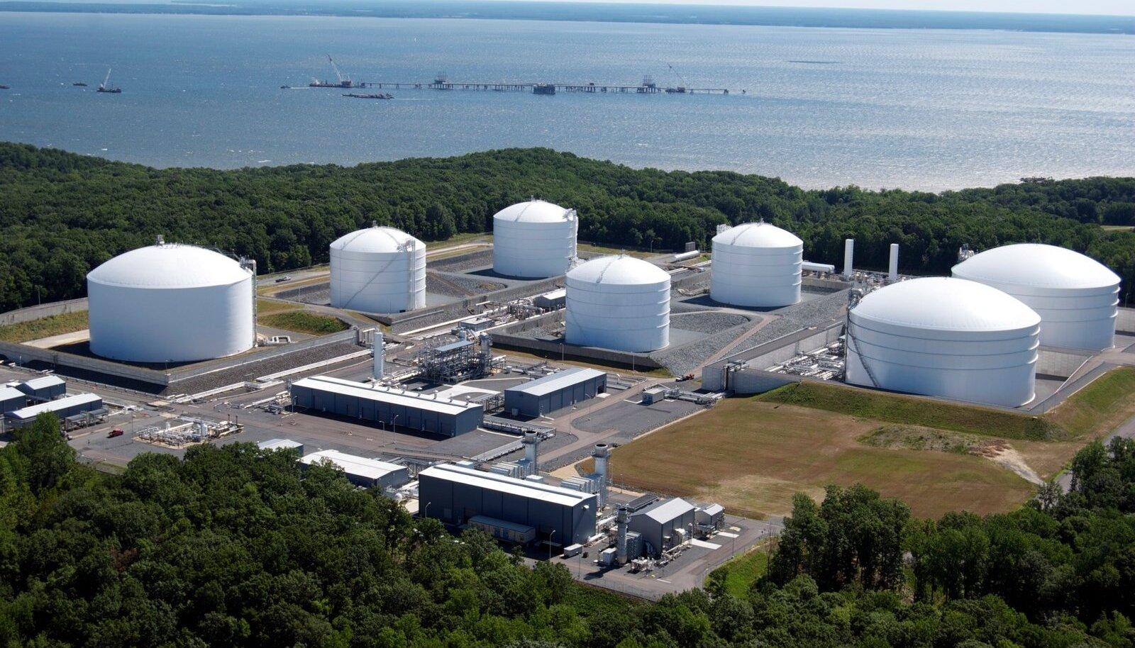 LNG terminal. Foto on illustratiivne