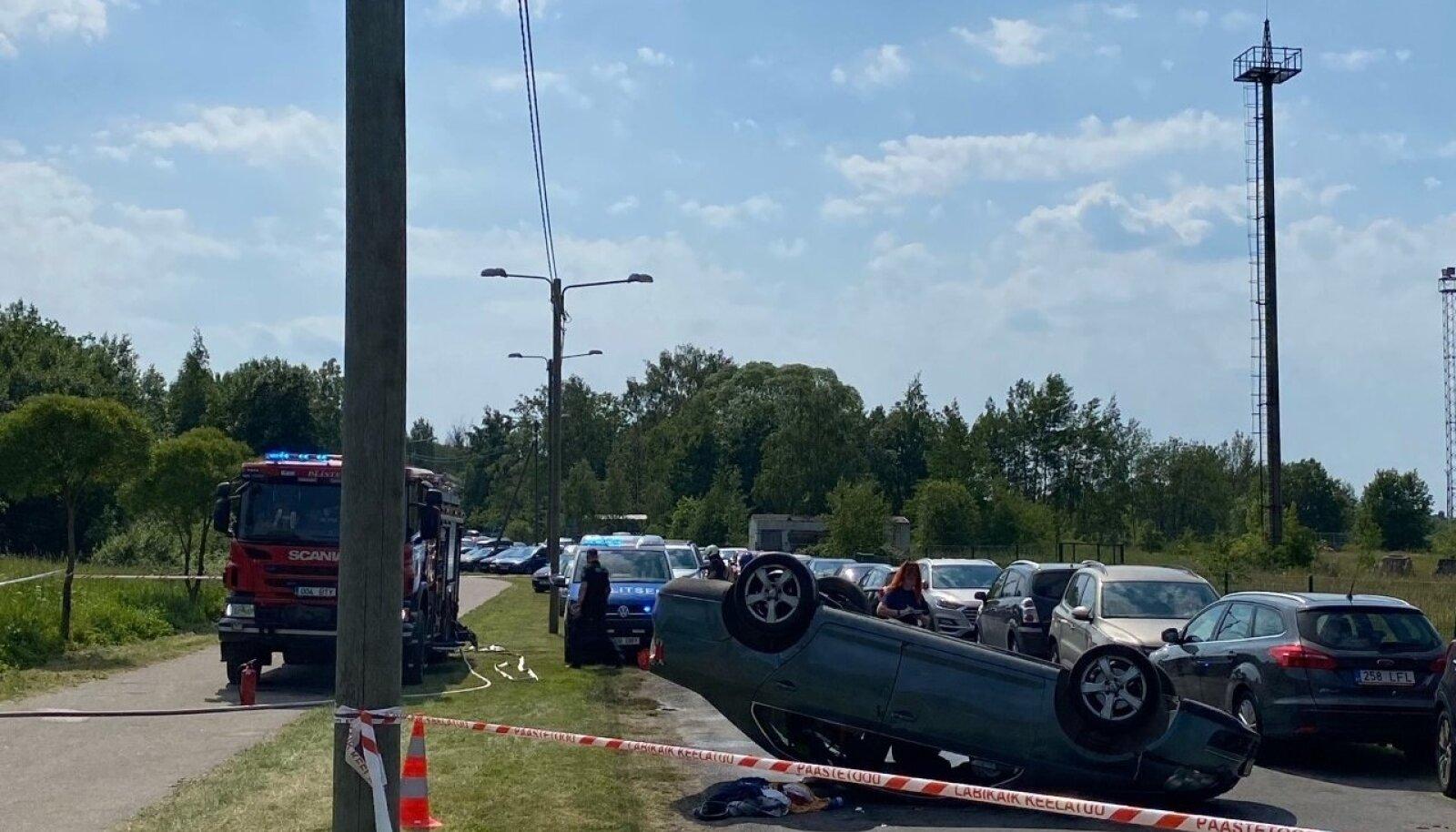 Liiklusõnnetus Paljassaare teel