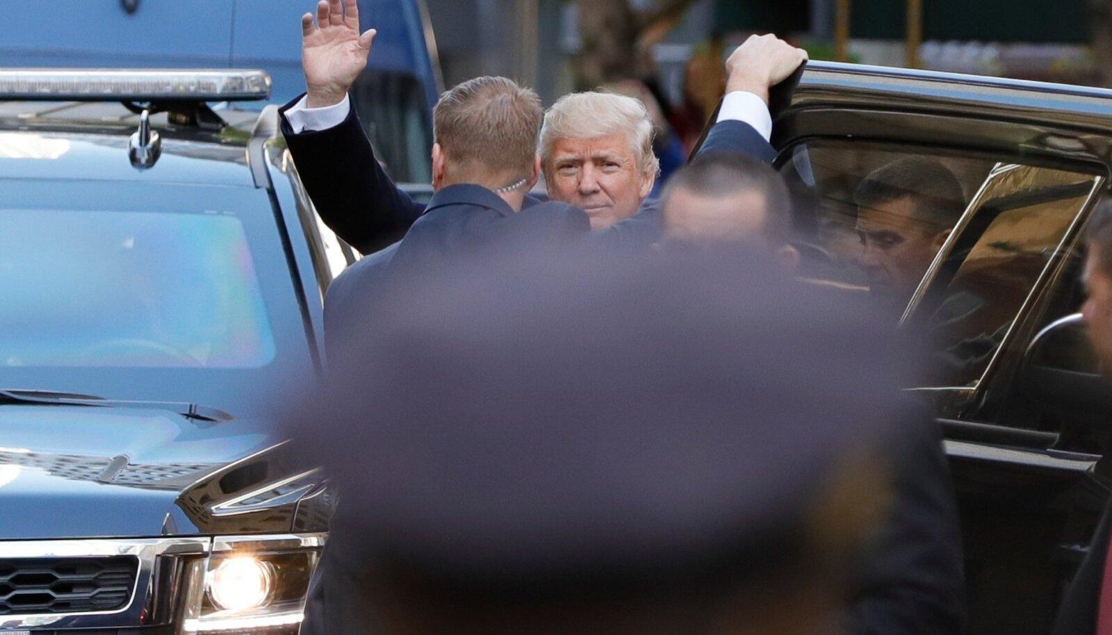 Donald Trump New Yorgis Ameerika Ühendriigi presidendi valimispäeval 8. novembril