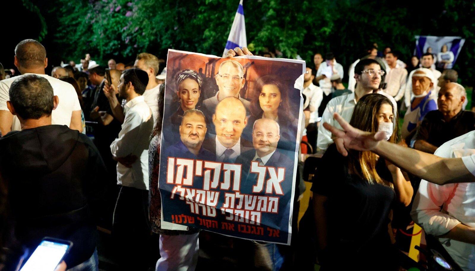 2. juunil toimunud meeleavaldus peaminister Benyamin Netanyahu toetuseks