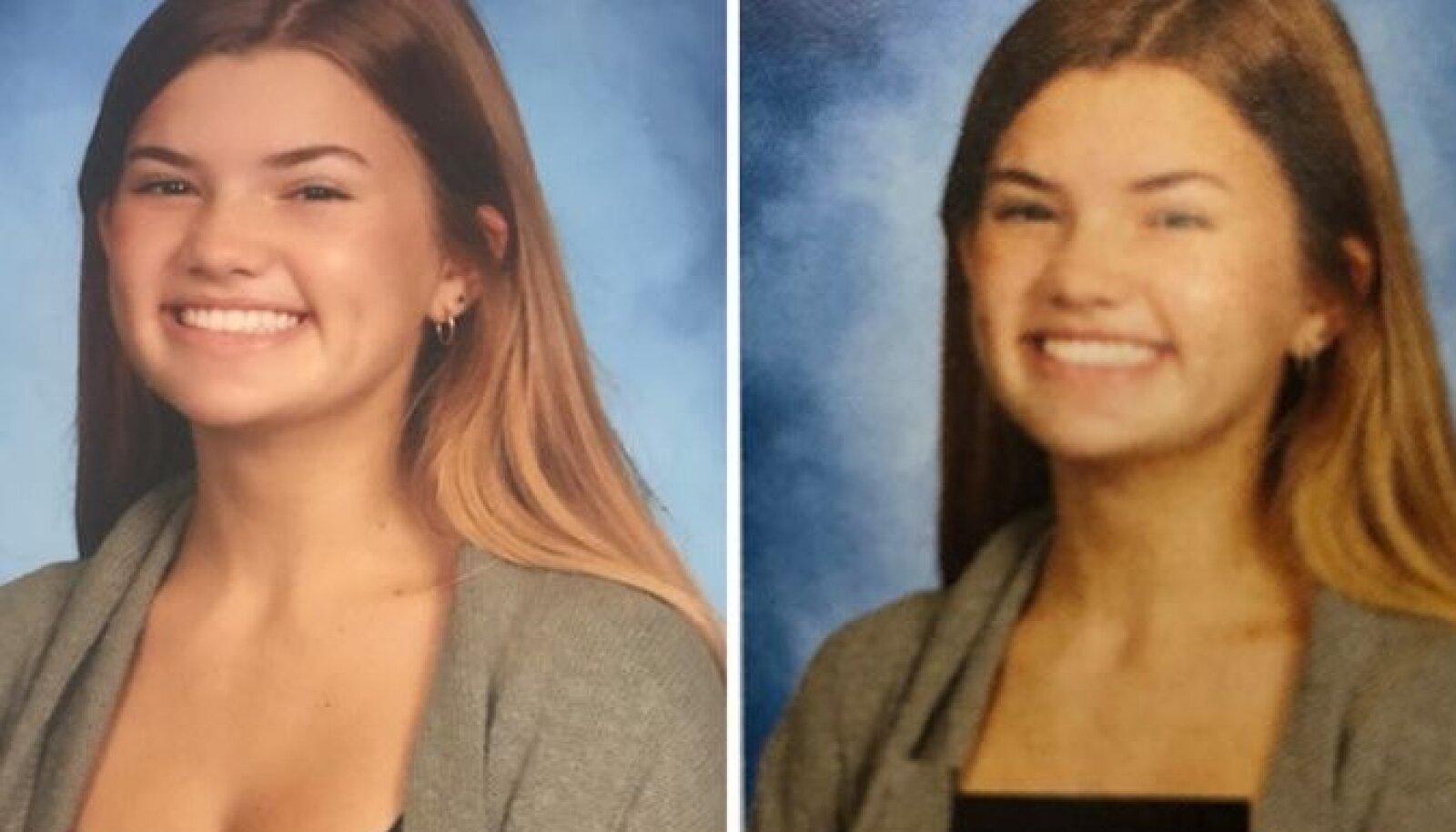 """Райли О'Киф была одной из школьниц, фотографию которых """"подредактировали"""""""