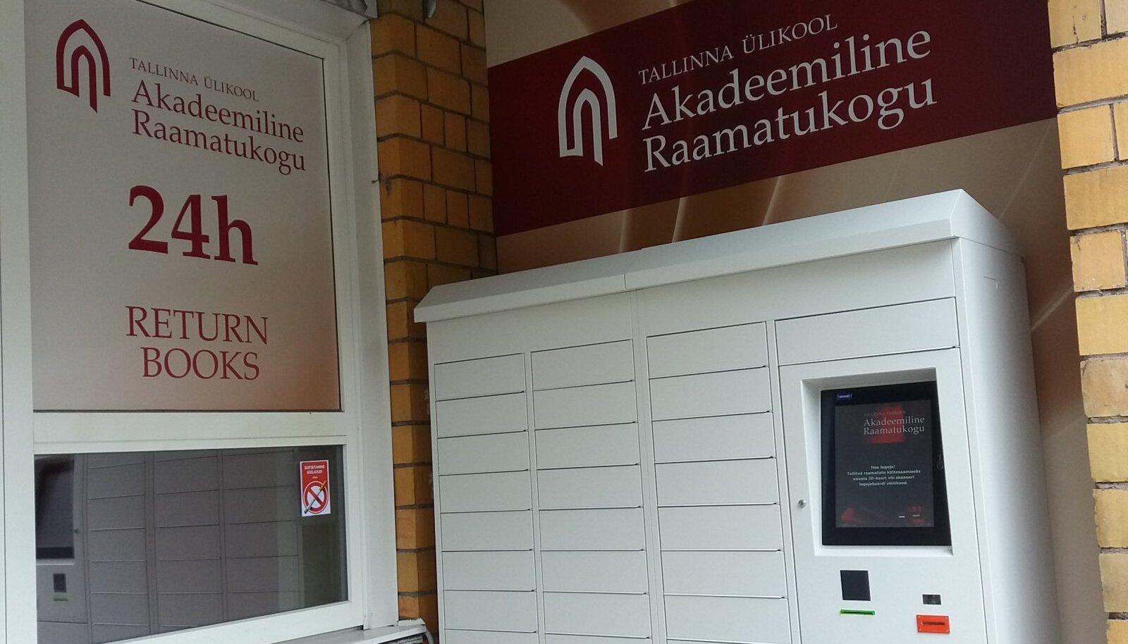 """TLÜ Akadeemilise raamatukogu raamatute laenutuskapp """"Raamatutark"""""""