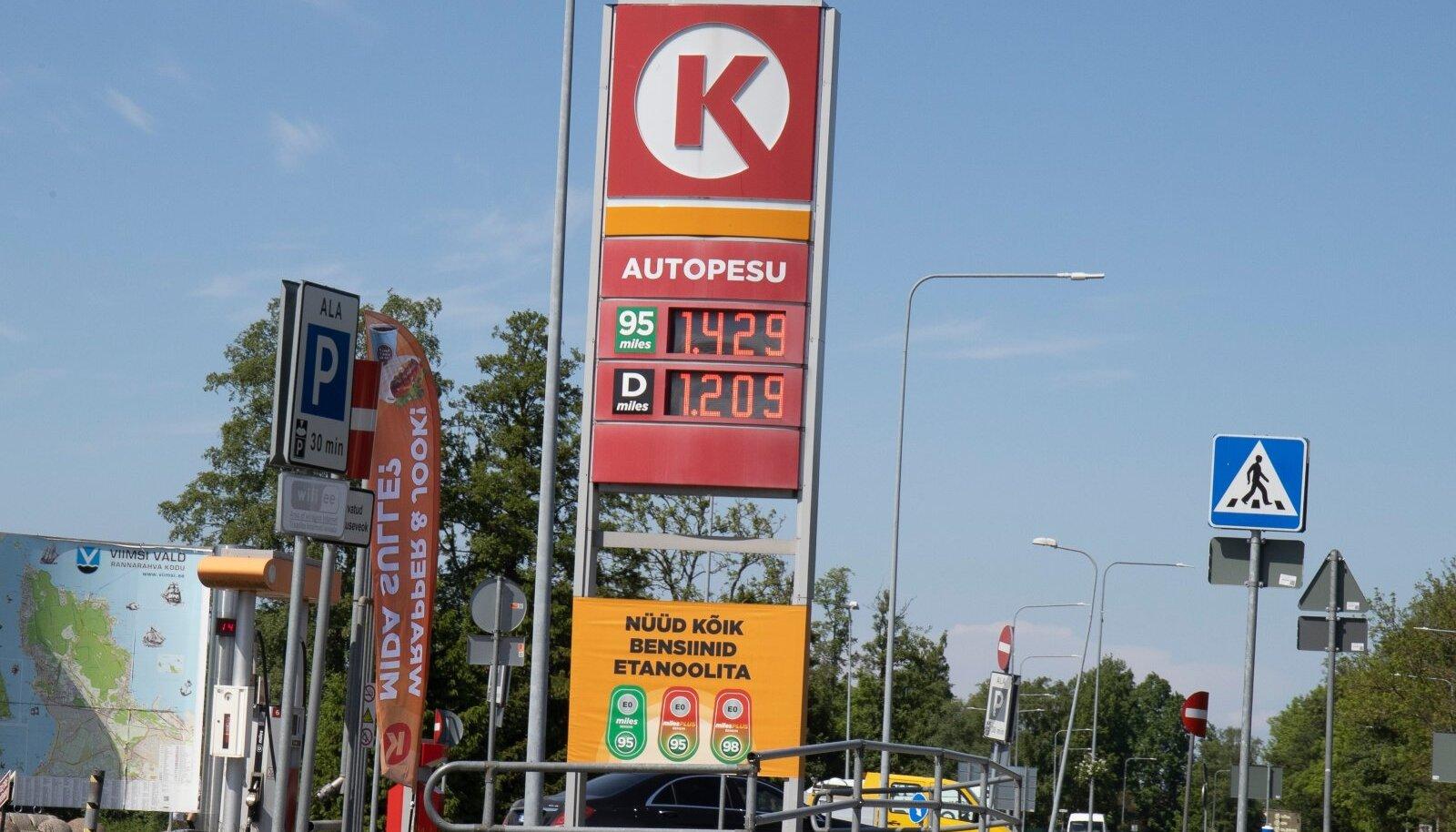 Kütuse hinnad 10.06.2021