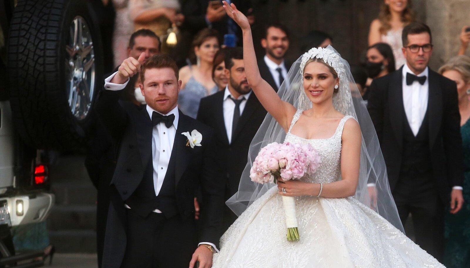 Canelo Alvareze ja Fernanda Gomeze pulmapidu.