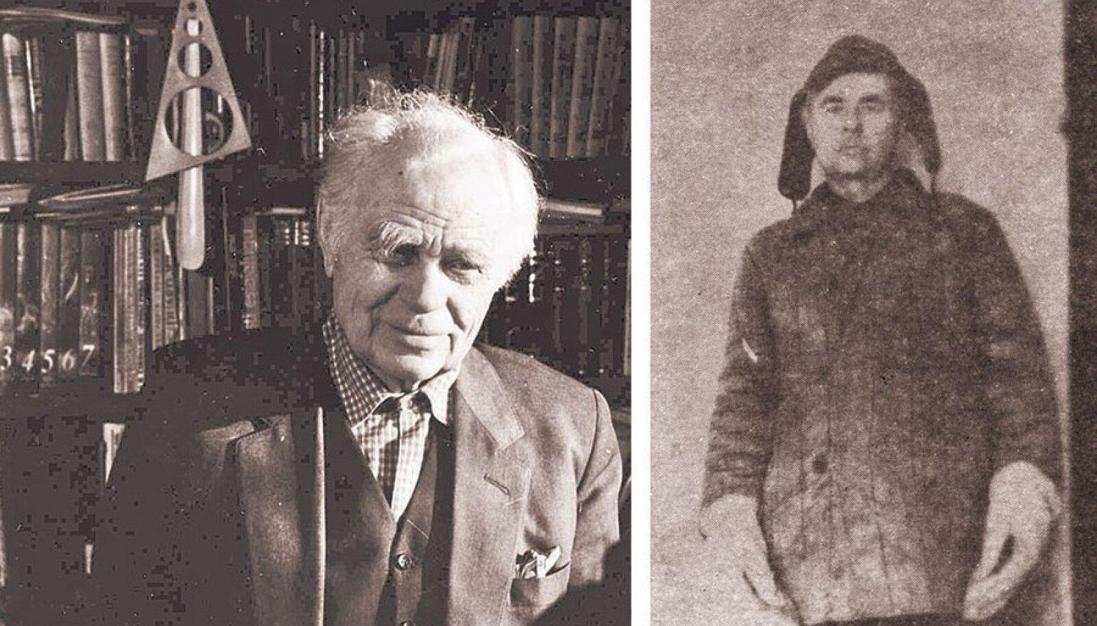 Jüri-Rajur Liivak 1989 ja 1955. Foto: Anne- Malle hallik