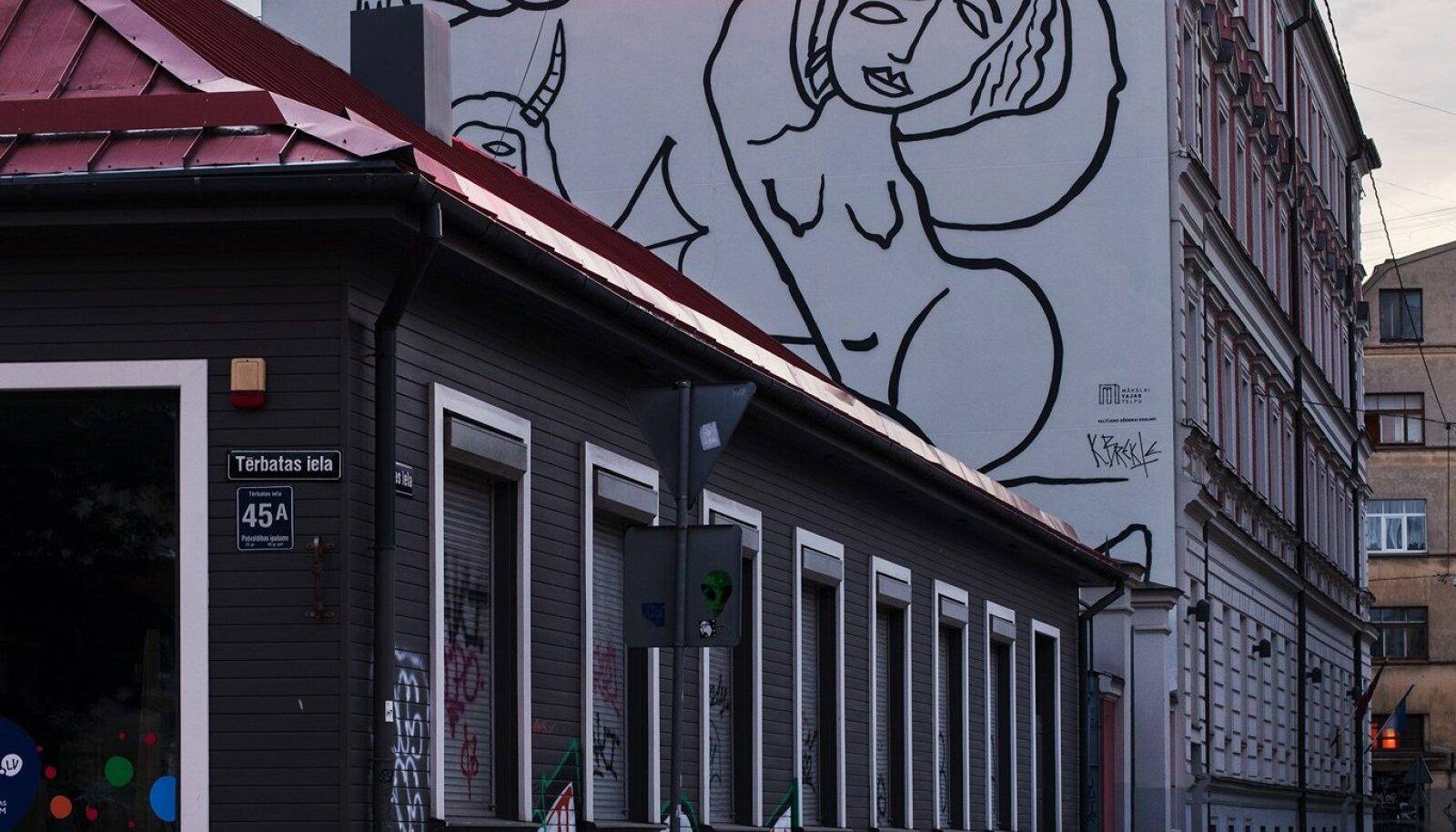 Selline seinamaal tõi Riias pahanduse kaasa.