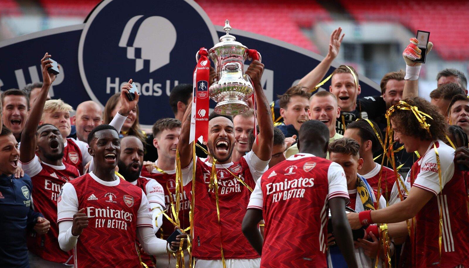 FA karikasarja valitsev meister on Arsenal.