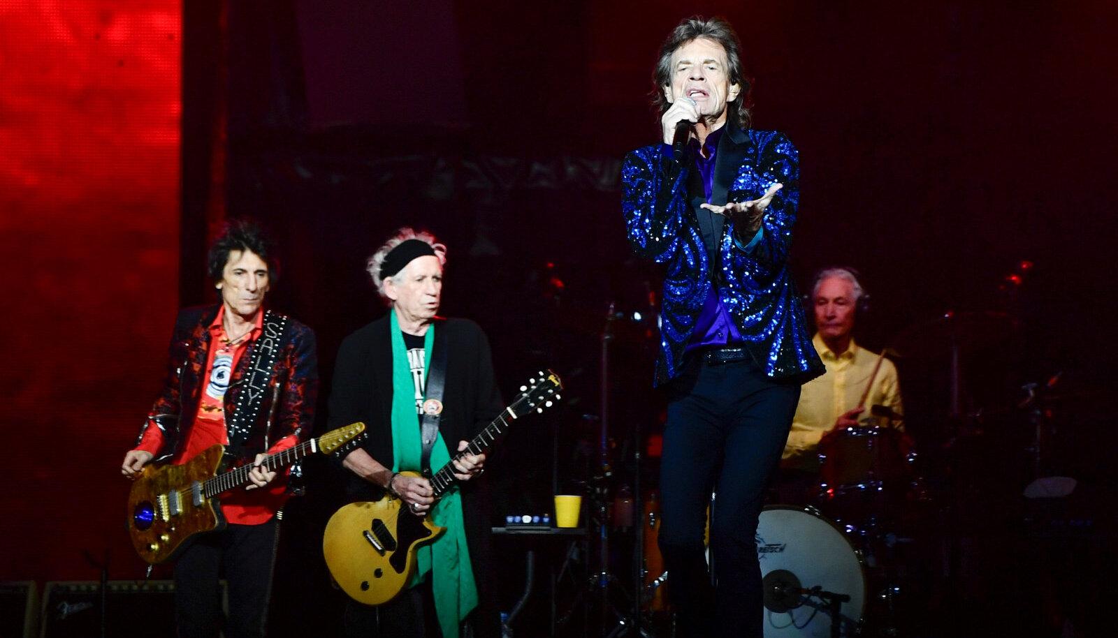 Suur nelik, Wood, Richards, Jagger ja Watts Friends Arena laval.
