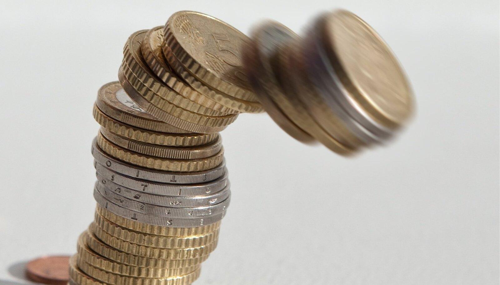 euromündid, raha, sendid