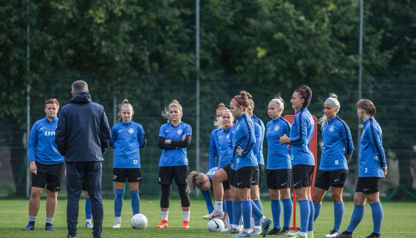 Eesti naiste jalgpallikoondis.