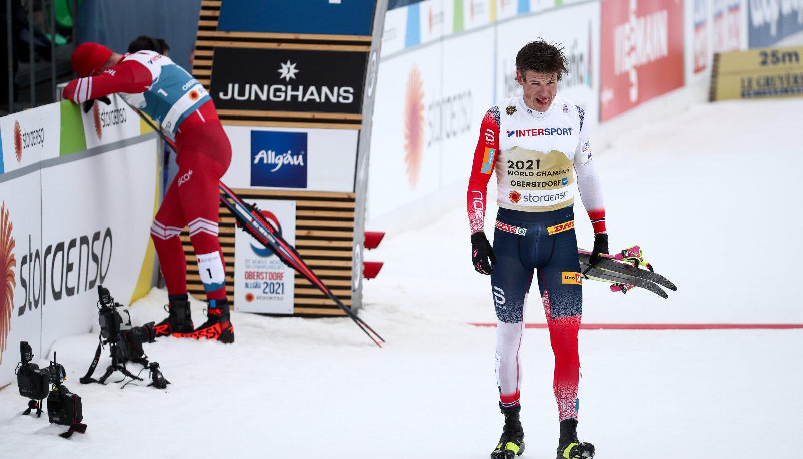 Johannes Hösflot Kläbo pärast MM-i 50 km sõitu.