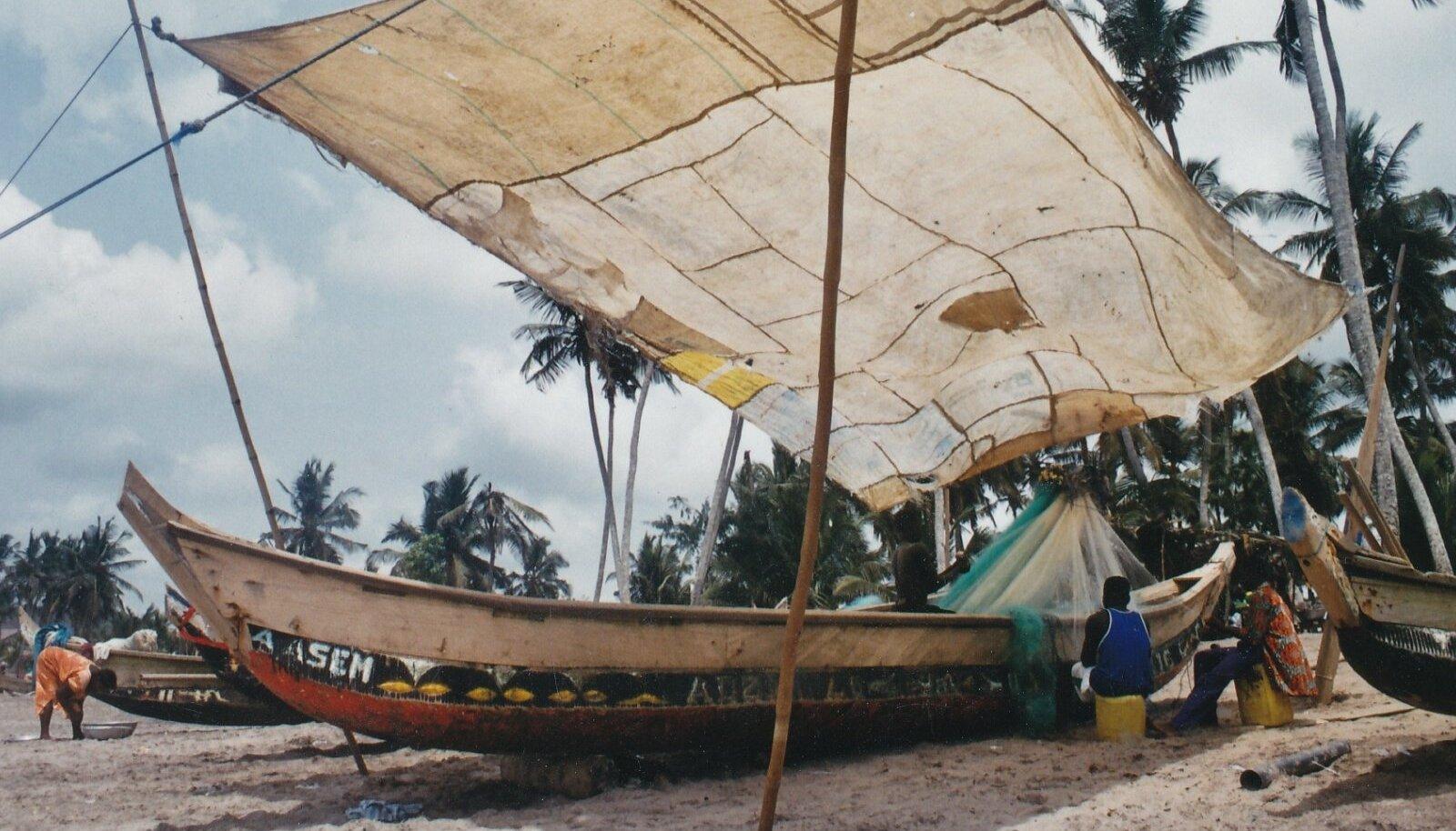 Välisreis, välismaa, paat, laev, palmid