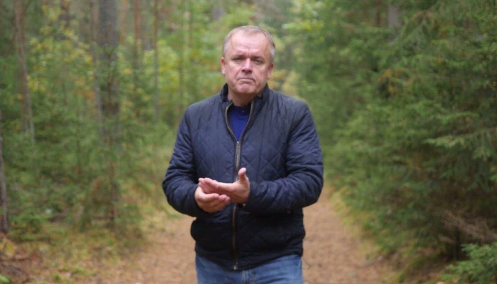 Allan Muuk Eesti Metsameistri tasutud videoklipis. (kuvatõmmis)