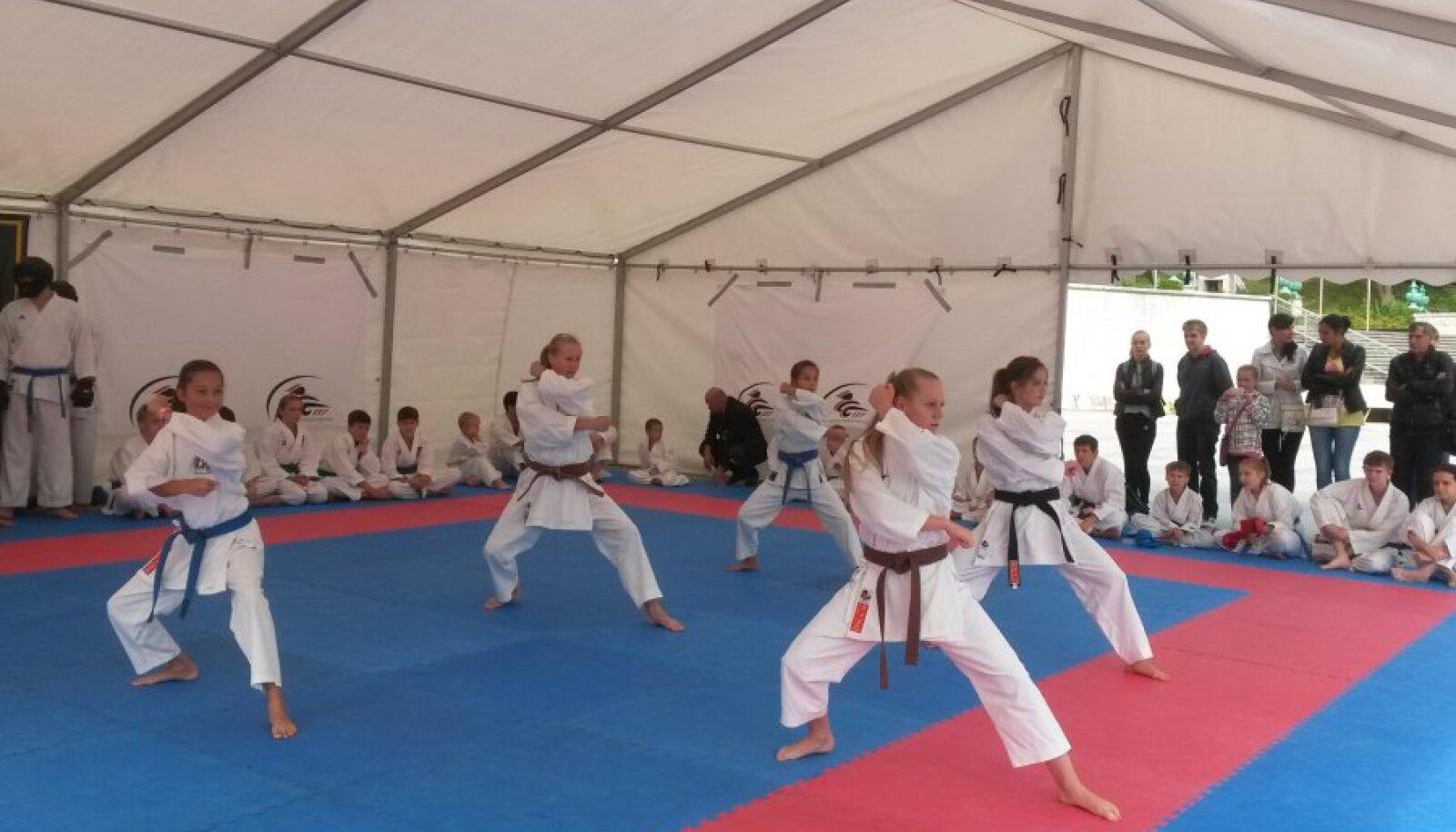 Karate demonstratsioon Vabaduse väljakul