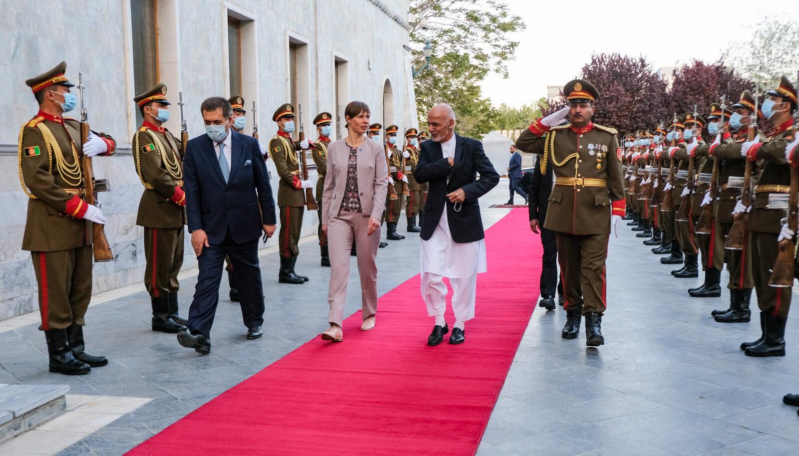 President Kaljulaid kohtus Afganistani presidendi Ashraf Ghaniga