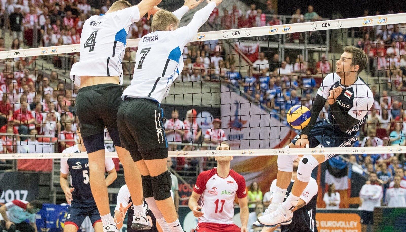 Kui Eesti kahe aasta eest Poolaga EM-il mängis, võeti vastu kaotus numbritega 21:25, 24:26, 22:25.