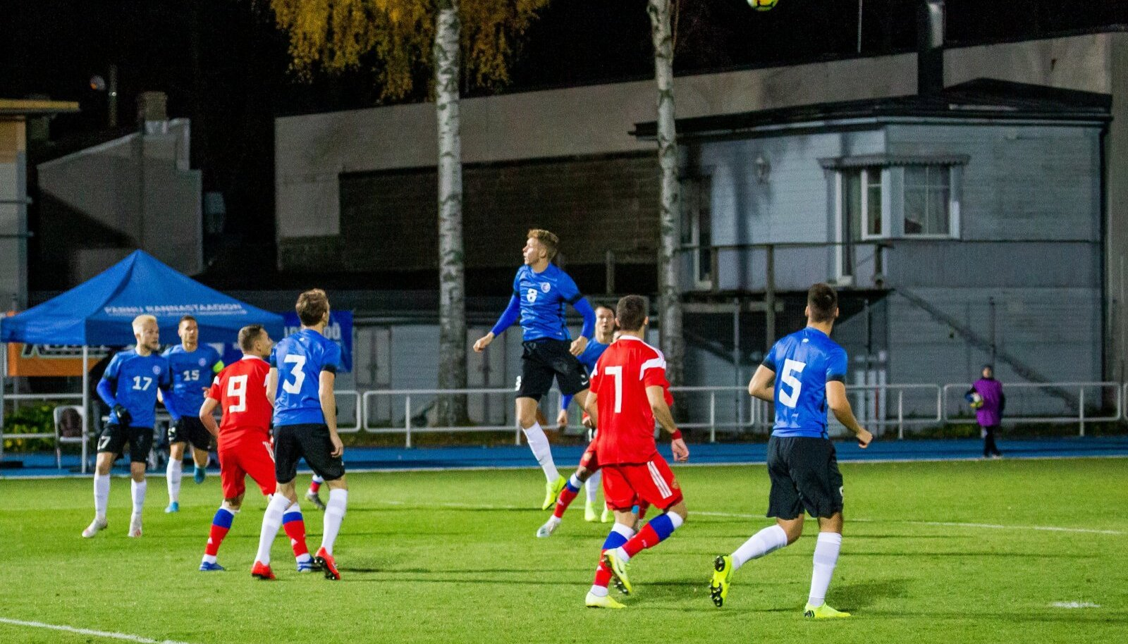 Jalgpalli U21 valikmäng  Eesti  Venemaa. (Foto on illustratiivne)