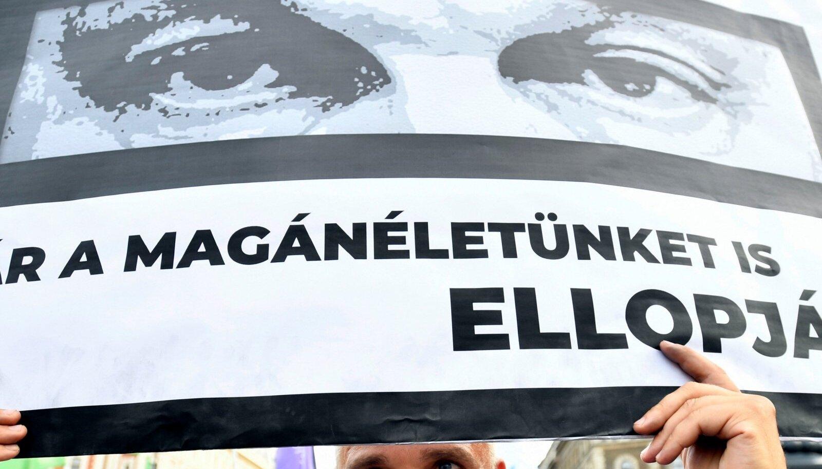 Pegasuse nuhkvara kasutanud Ungari valitsuse vastane meeleavaldus Budapestis