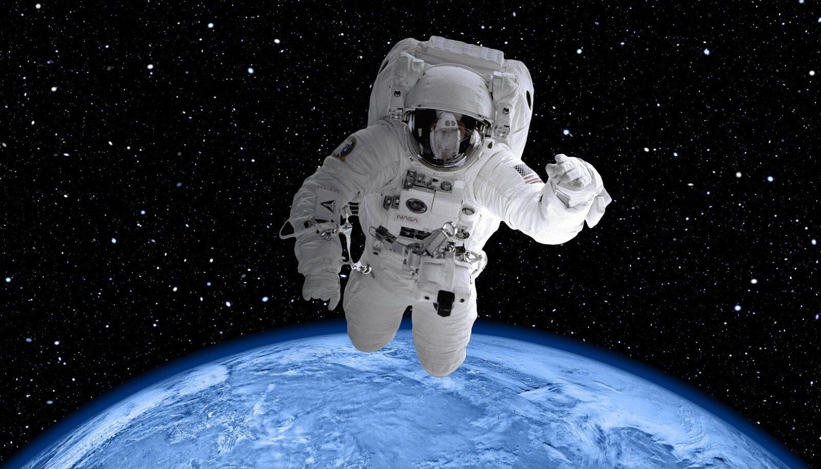 Illustratiivne pilt inimesest kosmoses (Foto: Pixabay / Gerd Altmann)