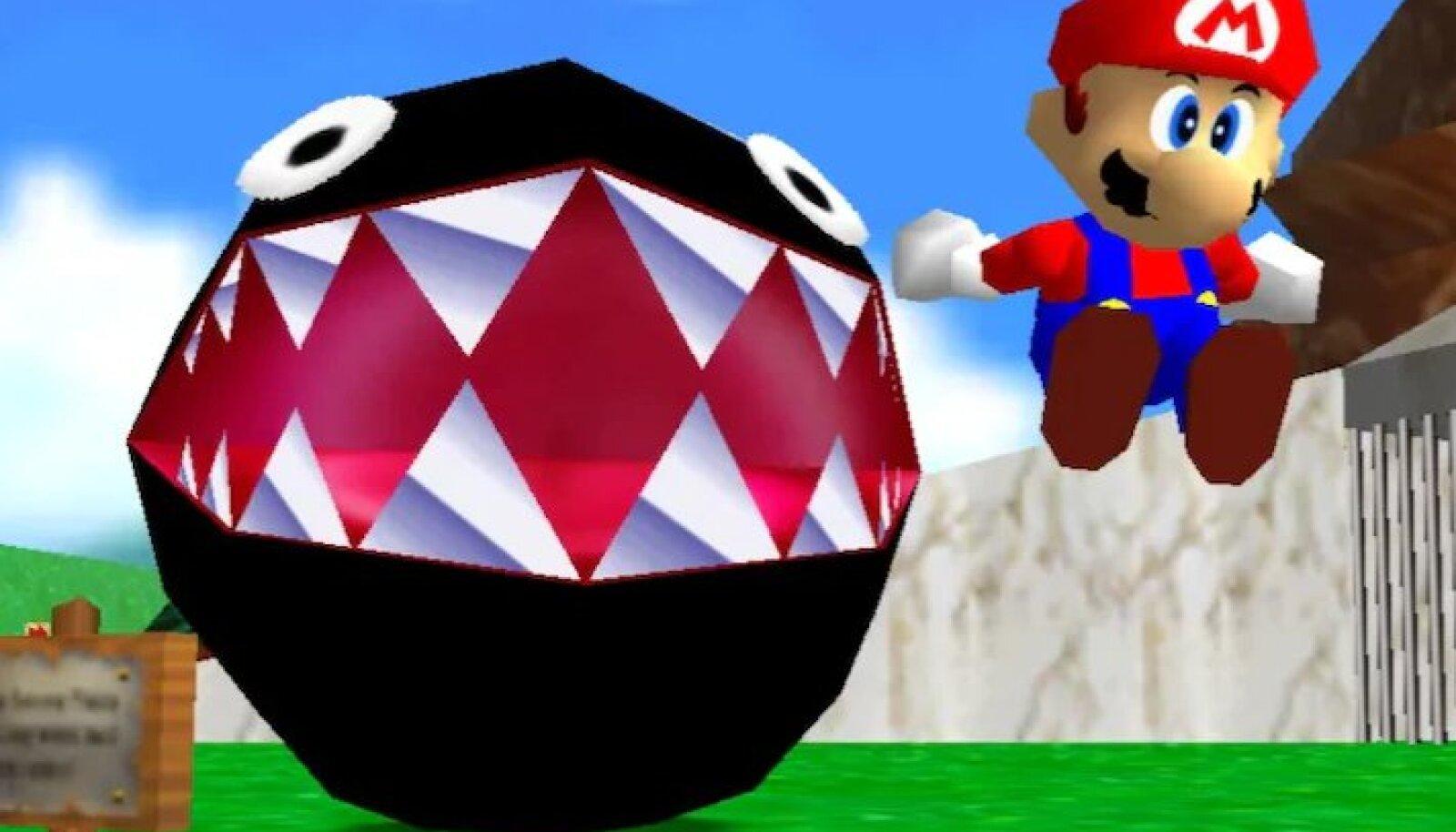 """""""Super Mario 64"""" (ekraanitõmmis)"""