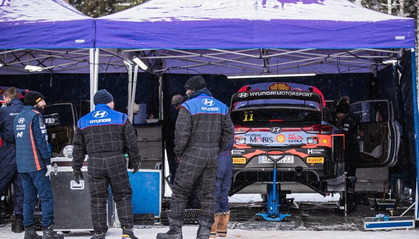 Hyundai meeskond Otepää talverallil.