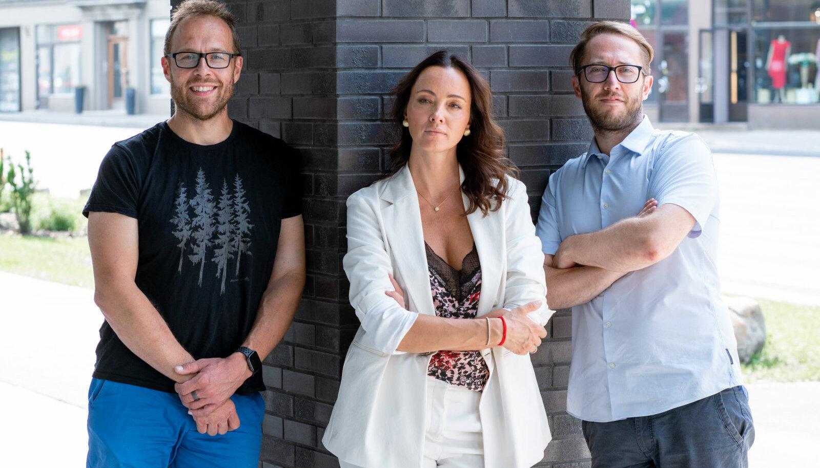CTO Kristian Sägi & CEO Mariana Hagström ja Ben Laas-Billson